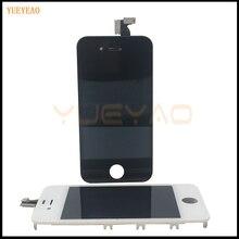 Yueyao 100% тестирование для iphone 4 4S ЖК-дисплей с Сенсорный экран планшета Ассамблеи Дисплей Замена