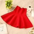 Niñas falda tutú rojo negro 2015 de la moda otoño invierno barato adolescente 160 170 cm 11 12 13 14 años de edad ropa de edad 10