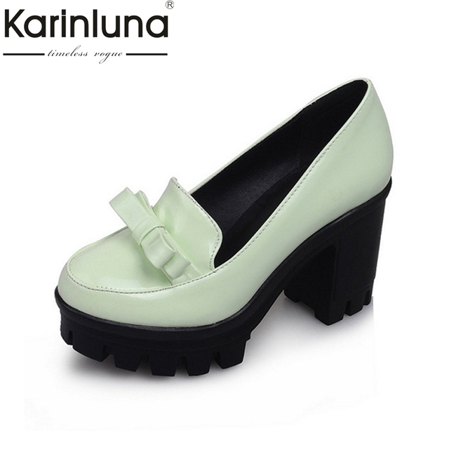 Brand New 2016 High Thick Heels Platform Skidproof Sole Bowtie Gladiator Spring Summer Fall Shoes Outdoor Size 34-43 Shoes Woman