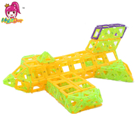2017 Mini 214pcs/lot Airplane Robot Magnetic Building Blocks Toys Construction Model DIY 3D Magnetic Designer Educational Bricks