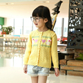 Kids Girls Animal Print Sweater Cotton Casaco Malha Menina Baby Clothing Cotton Cardigan Girls Clothes Autumn Winter 2016 60J047