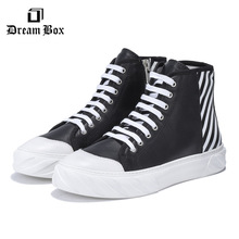цена Leather High-top Casual Shoes Korean Trend Wild England Мужская обувь онлайн в 2017 году