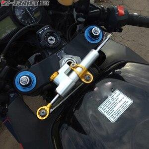 Image 5 - CNC Universal Aluminium Motorrad Dämpfer Lenkung Stabilisieren Sicherheit Control Für Suzuki GSX R GSXR 600 750 1000 K1 K2 K3 K4 k5 K6