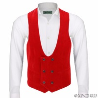 Latest Coat Pant Designs Red Green Velvet Vest Slim Fit Vests Double Breasted Waistcoat Party Groom Prom Waistcoats Masculino 78