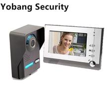 Yobang Security Freeship 7″ Hands-free Videophone With Door Camera Home Office Door Intercom Smart Video Door bell phone