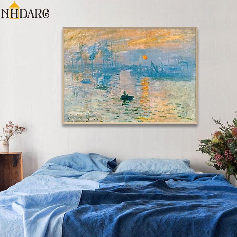 A Sunrise Art Print // Canvas Print Home Decor Wall Art Poster Details about  /Impression