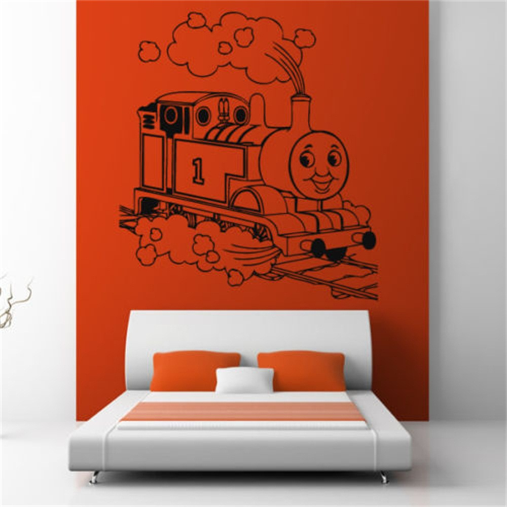 Children Thomas Tank Engine Train Wall Art Sticker Decal Kids Play Room Wall  Decals 5 Sizes In Wall Stickers From Home U0026 Garden On Aliexpress.com |  Alibaba ... Part 66