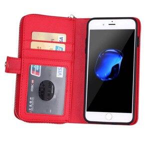Image 5 - Съемный кожаный чехол кошелек на молнии для Samsung Galaxy S10 S10E S9 S8 S7 S6 Edge Plus Note 9 8 10 Plus Многофункциональный чехол