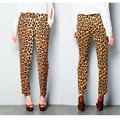 FUNOC New Casual Womens Ladies Leopard Print Harem Calças Estilo Celebridade Solto Fit Leopard Animal Print Plus Size