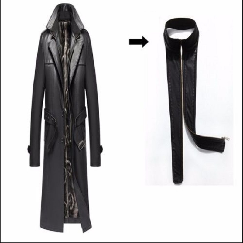 HTB1WqfhelWD3KVjSZFsq6AqkpXas Batmo 2019 new arrival autumn&winter real Leather thicked trench coat men,Leather jacket men,plus-size S-5XL