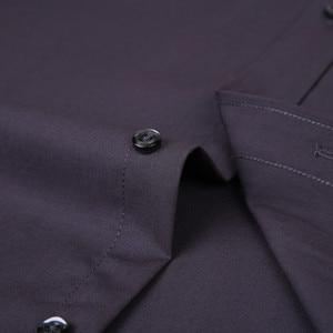 Image 5 - 2020 ใหม่ผู้ชายชุดเสื้อสีทึบPLUSขนาด 8XLสีดำสีขาวสีฟ้าสีเทาChemise HOMMEชายธุรกิจCASUALเสื้อแขนยาว