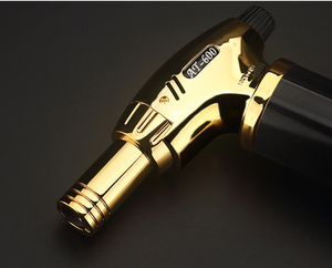 Image 4 - Outdoor BBQ Lighter Cigar Torch Turbo Lighter Jet Butane Gas 1300 C Spray Gun Windproof Metal Pipe Lighter Kitchen No Gas
