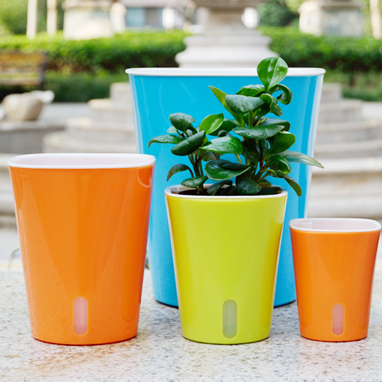 Automatic Self Watering Flower Plants Pot Put In Floor Irrigation For Garden Indoor Home Decoration Gardening Flower Pots 3 Size