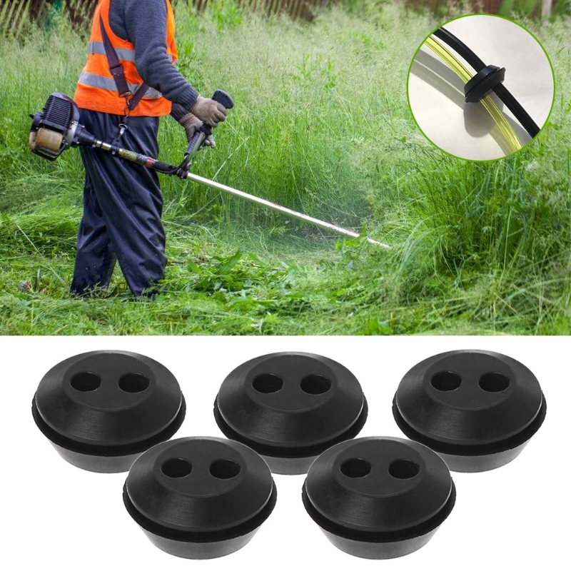 5Pcs Brush Cutter Grass Trimmer Fuel Oil Pipe Hose Washer Grommet With 2 Holes