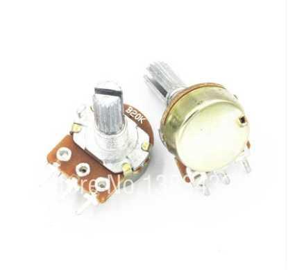 2 шт./лот одного Лиги регулируемый резистор подстроечный потенциометр WH171 B20K 15 мм ложки с длинной ручкой, с кепкой, AliExpress