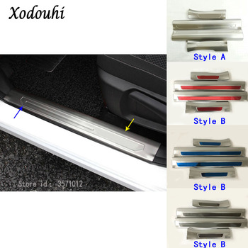 For Renault Kadjar 2016 2017 2018 2019 Car Styling Stainless Steel Pedal Door Sill Scuff Plate Inner Built Threshold Molding