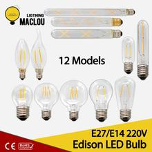 E27 E14 Retro Edison Led Bulb 2W 4W 6W Ampoule Vintage Led Edison Lamp E27 220v Warm White LED Light Bulb Home Lampada LED Lamp 3d fireworks retro edison bulb 4w e27 g125 led light home bar decor lighting colorful glass globe lamp 420lm ac85 265v