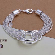 Fina del verano del estilo de plata chapada pulsera 925-sterling-silver joyería multi-line y cadena » O » pulseras para para SB299