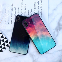 Gradient Glass Phone Case For iPhone 6 6S 7 8 Plus Colorful Starry Cover X XS Max XR Ultra Thin Tempered Cases