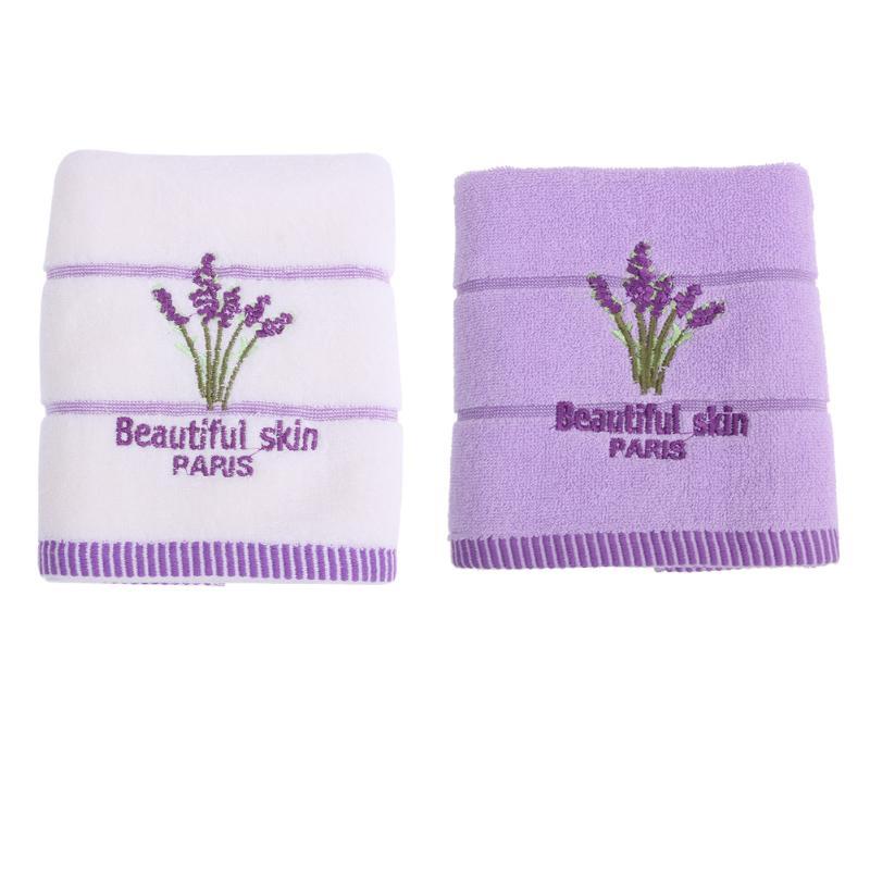 Baby Saliva Towel Lavender Flower Jacquard Soft Face Towel Kids Cotton Hair Bathing Towel Square Handkerchief Baby Feeding Towel