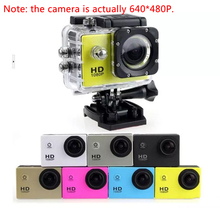 Фристайл 2-дюймовый ЖК-дисплей 640P* 480P экшн Камера, позволяющая погружаться под воду на глубину до 30 м Водонепроницаемый(устройство цифровой записи) для занятий подводным, шлем Камера DV Спортивная камера SJcam