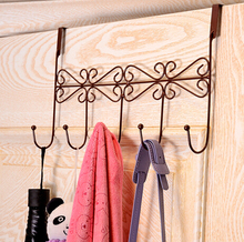 2015 Multifunction Vintage Metal Hanger Hook Over Door Coat Towel Organizer Rack  Bathroom Kitchen Holder With 5 Hooks