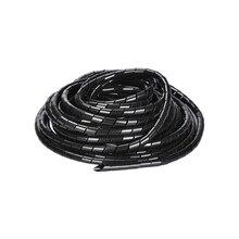 10 M Sarma Tüp PE Boru çapı 6mm 8mm 3d yazıcı için siyah şeffaf spiral kablo Sarma tel RepRap Alev geciktirici