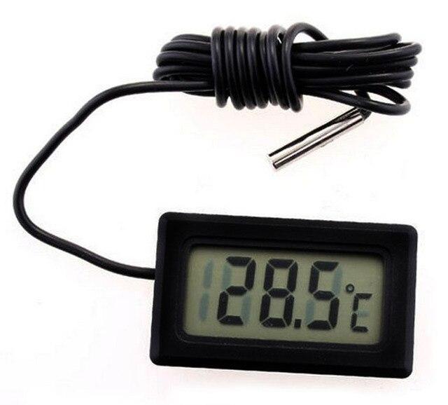 Digital Thermometer Hygrometer Fish Probe Tank Home House Outdoor Indoor  Wasserschwarz Psychrometer Temperatur Hygrometer Meter