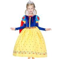 Christmas Snow White Girls Princess Dress Kids Clothes Cosplay Costume Children Christmas Dress Girls Princess Long