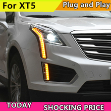 Car Style LED Head Lamp for Cadillac XT5 led headlight 2016-2018 for XT5 drl H7 hid Bi-Xenon Lens angel eye low beam цена в Москве и Питере