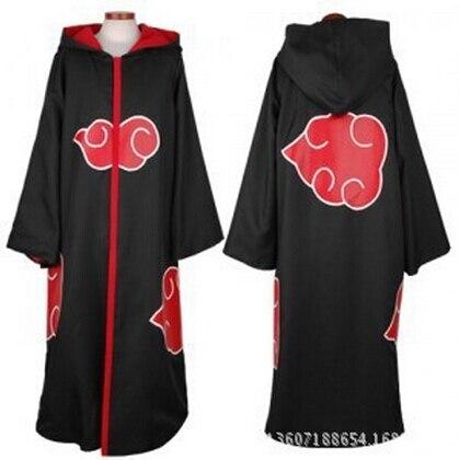 FREE SHIPPING Hot Sale Anime Naruto Akatsuki /Uchiha Itachi Cosplay Halloween Christmas Party Costume Cloak Cape