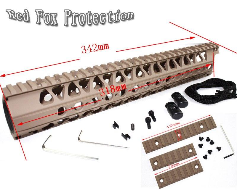 Tactical Accessories LVOA-C 13.5 inch Aluminum Handguard rail and Picatinny Rail 3pcs mounts DE