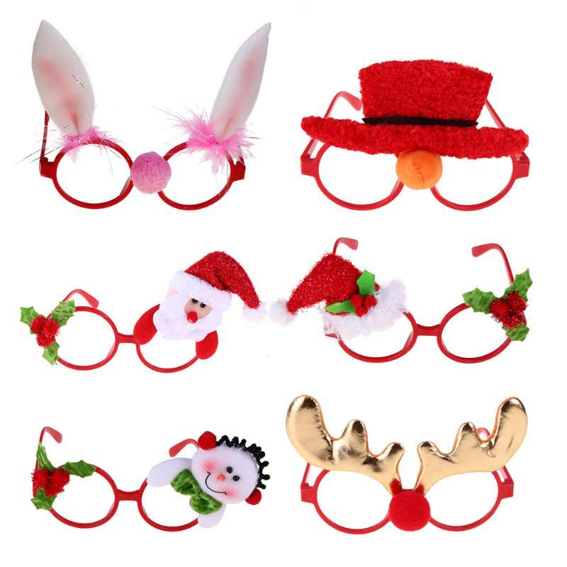 New Christmas Frame Glasses Ornaments Santa Caus Glasses Adult Kids Sunglass Eyeglass Costume Eye Frame Xmas Gift Party New Year