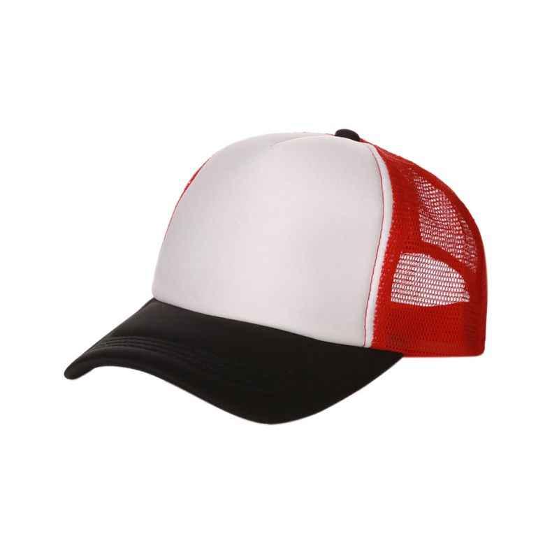 afc247c607f Fashion Good-looking New Plain Baseball Cap Solid Trucker Mesh Blank Curved  Adjustable Baseball Hat
