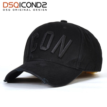 DSQICOND2 Casual Brand Snapback Baseball Cap for Women Men 2018 ICON Solid  Letter Snapback Caps DSQ 3179b092c0d