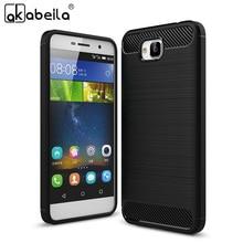 AKABEILA Phone Case For Huawei Honor 4C Pro Case Carbon Fiber Bag TIT-AL00 Y6 Pro TIT-L01 TIT-U02 Enjoy 5 Honor Holly2 Plus Capa