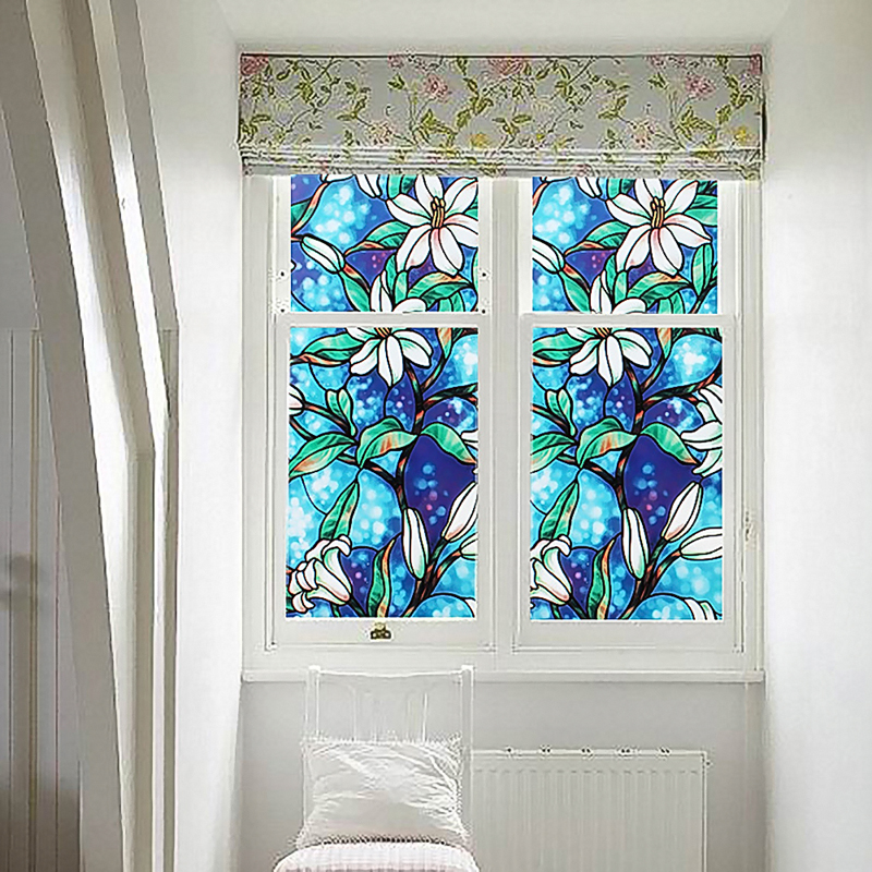 1pc Diy Home Static Decor Cling Stained Cover Window Film Gl