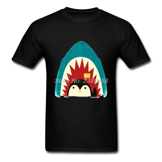 t shirts men penguin short sleeve shark clothes online unique luxury rh aliexpress com clothing brand with shark logo Most Popular Brand Logos