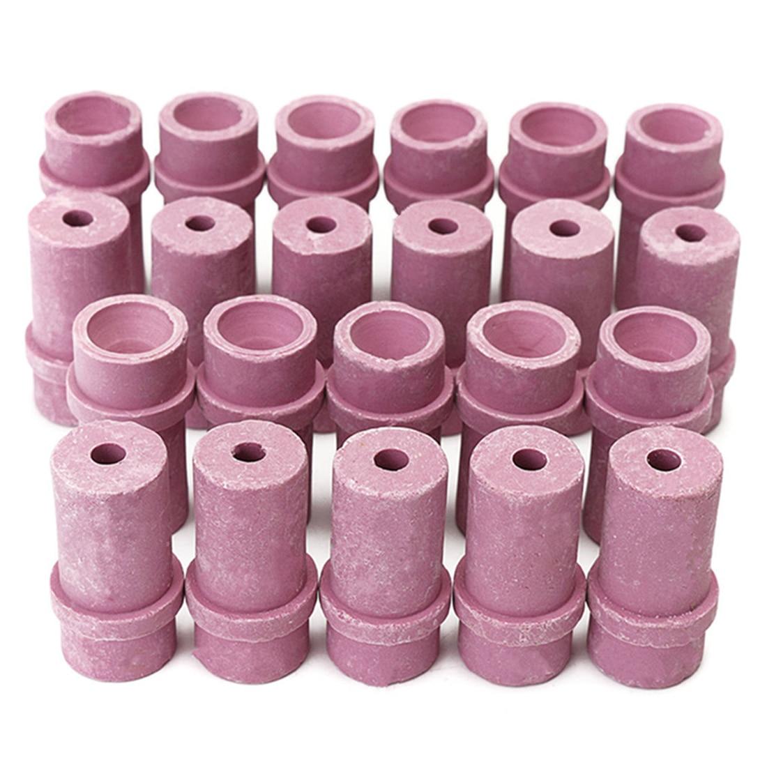 THGS 20Pcs Sandblaster Ceramic Nozzles Air Siphon Abrasive Sand Blasting Gun Nozzles
