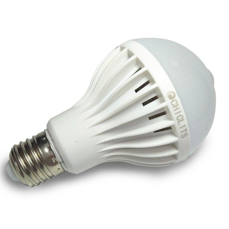 Lâmpadas Led e Tubos pir levou sensor de movimento Lampada Led : Led E27 Led Pir Motion Sensor