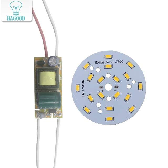 3W 5W 7W 9W 12W 15W 18W  24W  5730 SMD Light Board Led Lamp Panel For Ceiling + AC100-240V LED power supply driver