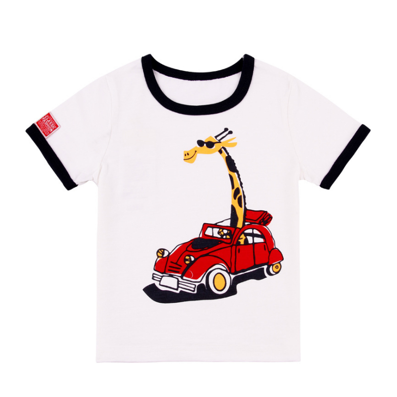 Kids boy t shirts print car pattern boys collar tees short o neck T shirts for Children cotton tshirt animal t shirt kids baby in T Shirts from Mother Kids