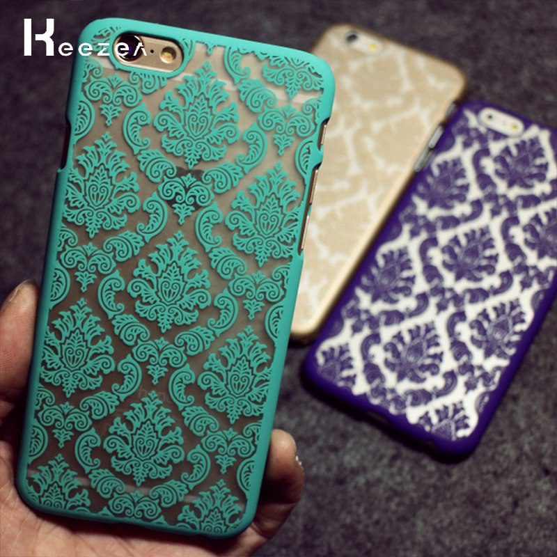 Keezea Vintage Damask Flower Pattern Phone Case for iPhone X 8 7 6 Plus 6s 5 Luxury Lace Silicone Back Cover For iPhone 5 5s 6s