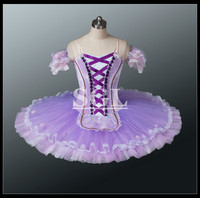 Free Shipping Adult Purple Color Tutu Skirt For Sale Girls Professional Stage Costume Ballet Pancake Make