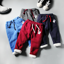 Children's clothing 2016 autumn and winter plus velvet thickening male child trousers male child sports pants casual