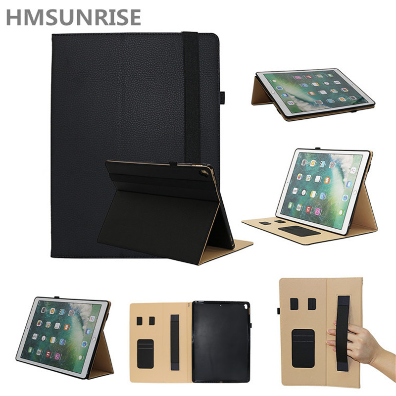 Hmsunrise Soft Shell Case For iPad pro 12.9 inch 2017 full Protection Shockproof TPU Cover for iPad pro 12.9 tablet A1670 A1671 for ipad pro 12 9 case tpu soft protector 2017 semi bezel back cover for ipad pro 12 9 2017 crystal transparent can see logo