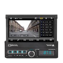 7 Cal 1Din Radio samochodowe Stereo elektryczny chowany ekran USB ładowarki FM AUX MP3 MP5 odtwarzacz SD obsługa kamery cofania antena GPS tanie tanio Tuner radiowy W desce rozdzielczej 12 v Angielski 1024 * 600 Car Player 18*16*5cm 1700g Metals + Plastics 87 5~108 0MHz
