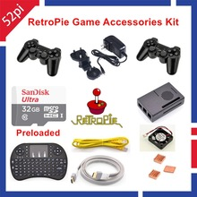 Raspberry Pi 3 Model B 32GB RetroPie Game Accessories Kit Wireless Controllers Gamepad Joypad Joystick