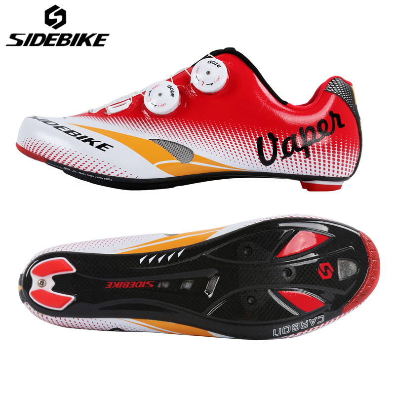 SIDEBIKE Bike Cycling Shoes Sapatilha Ciclismo Road Zapatillas Ciclismo Shoes Carbon Lightweight Self-locking Cycling Shoes sidebike mens road cycling shoes breathable road bicycle bike shoes black green 4 color self locking zapatillas ciclismo 2016