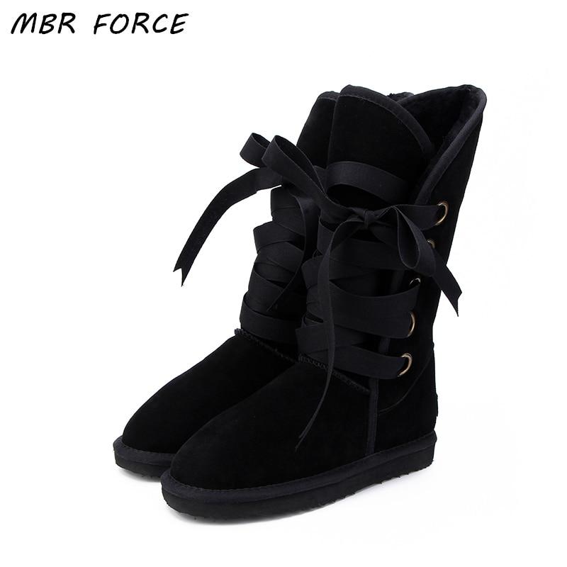MBR FORCE Femmes Bottes D'hiver De Mode Genou Haute Boot Pour Femme Chaud Fourrure Furry Dame Bottes de Neige Australie Femmes dames chaussures US3-13